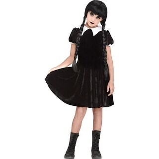 Girls Gothic Girl Wednesday Addams Costume (3 options available)