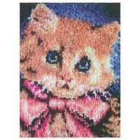 "Prize Kitty - Wonderart Latch Hook Kit 15""X20"""