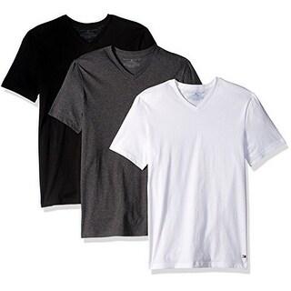 Tommy Hilfiger Mens Undershirts 3 Pack Cotton Classics V-Neck T-Shirt