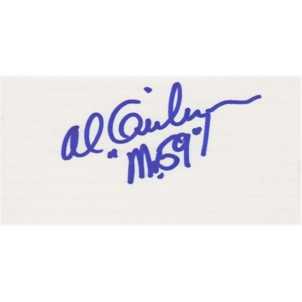 Shop Al Geiberger Autographed Golf 3X5 Card With Mr 59 Inscription