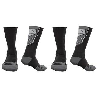 EvoShield Performance Crew Socks (Black w/ Gray / X-Large / 2 Pair)
