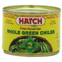 Hatch Chile Company Fire Roasted Whole Green Chiles, Mild, 4-Ounce (Pack of 12)