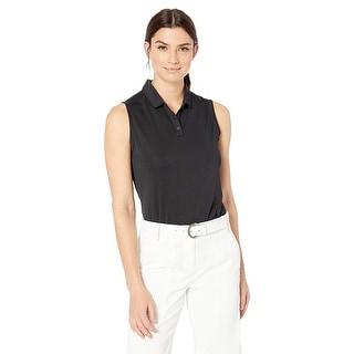 Nike Women's Dry Polo Sleeveless, Black/Flight, Black/Flight Silver, Size Medium