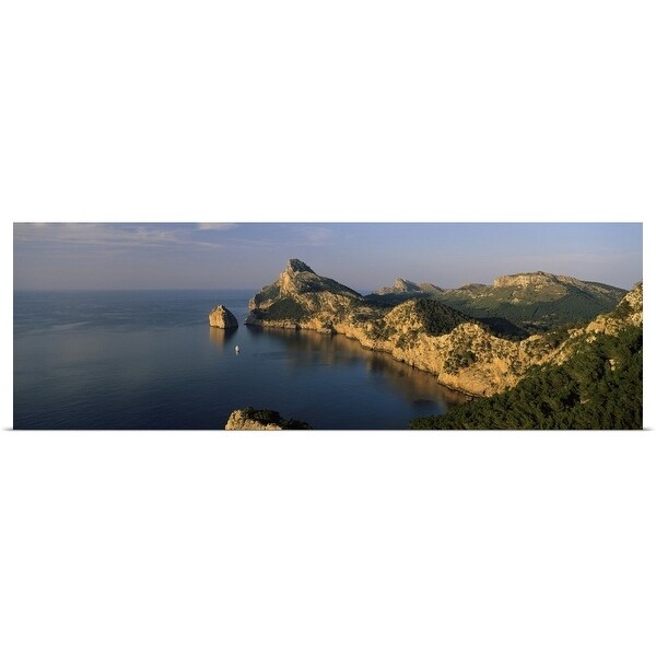 """Island in the sea, Cap De Formentor, Majorca, Balearic Islands, Spain"" Poster Print"