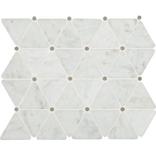 "Daltile MTRIANGLMSL Marble Collection - 2-3/4"" x 2-1/2"" Triangle Mosaic Multi-Su"