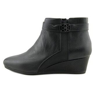 Giani Bernini Womens CELINAA Leather Almond Toe Ankle Platform Boots