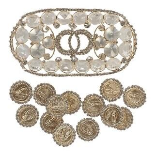 Angels Garment Gold Glamorous Crystal Adorned Holder Coins Wedding Arras