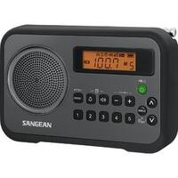 Sangean SNGPRD18BKB Sangean AM/FM Digital Portable Receiver with Alarm Clock (Black)