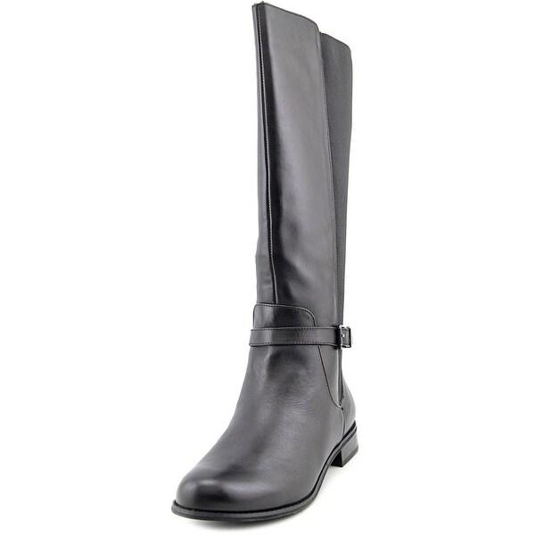 Giani Bernini Zayla Round Toe Leather Knee High Boot