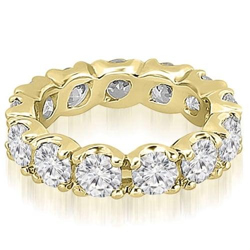 14K Yellow Gold 4.55 cttw. Round Diamond Eternity Ring HI,SI1-2