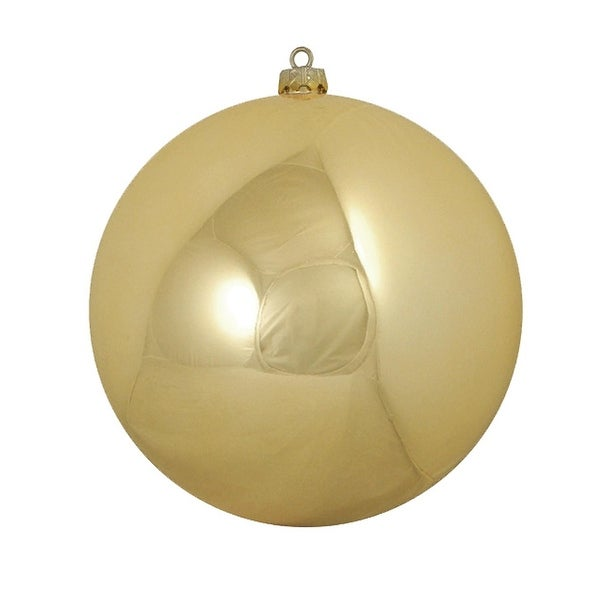 "Shiny Vegas Gold Commercial Shatterproof Christmas Ball Ornament 10"" (250mm)"