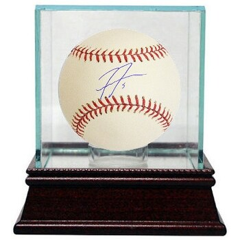 Freddie Freeman signed Rawlings Official Major League Baseball 5 w Glass Case Atlanta Braves