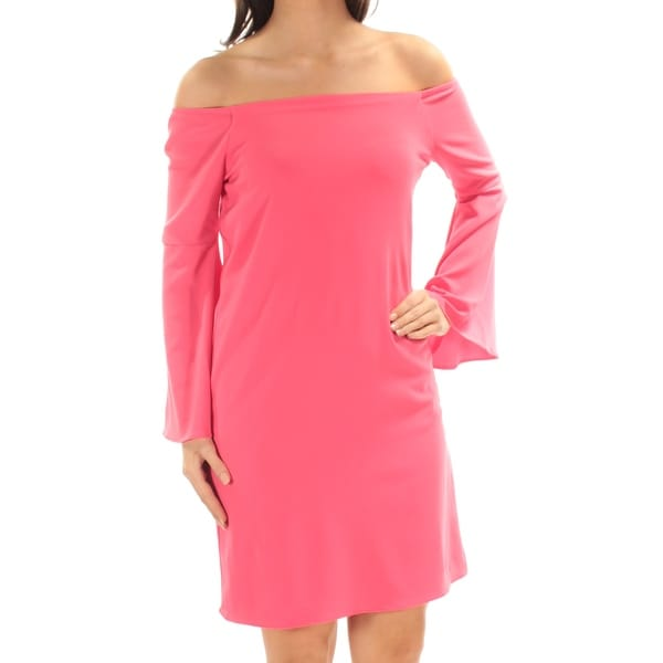 9f2d24664a5e Shop BAR III Womens Coral Bell Sleeve Off Shoulder Above The Knee Shift  Dress Size: XS - Free Shipping On Orders Over $45 - Overstock - 22420680