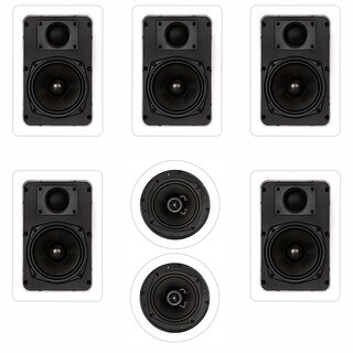 Theater Solutions TS-57 1400W 7CH In-Wall/Ceiling Home Theater Speaker System