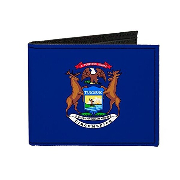 Buckle-Down Canvas Bi-fold Wallet - Michigan Flag Accessory