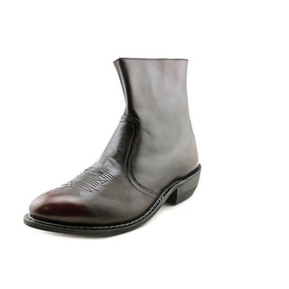 Leather Classics 1198 Men  Round Toe Leather Burgundy Boot