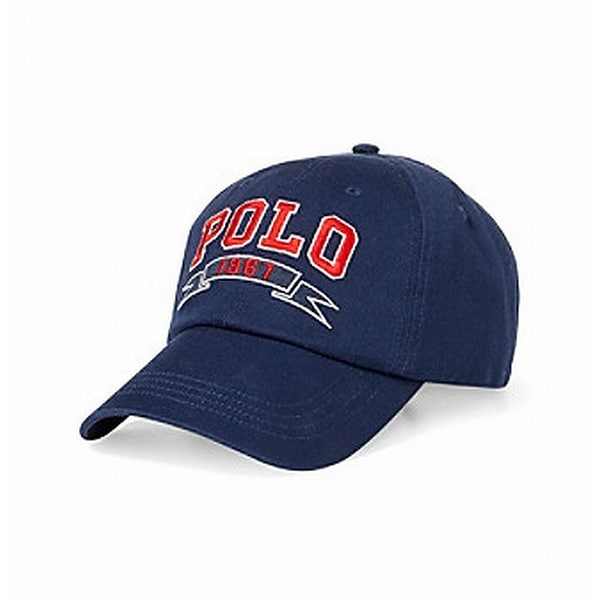 7e77d6d1242 Shop Polo Ralph Lauren NEW Navy Blue Adjustable Mens Baseball Cap Cotton Hat  - Free Shipping On Orders Over  45 - Overstock.com - 21896829