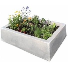 Raised Garden Box, English Castle Grey