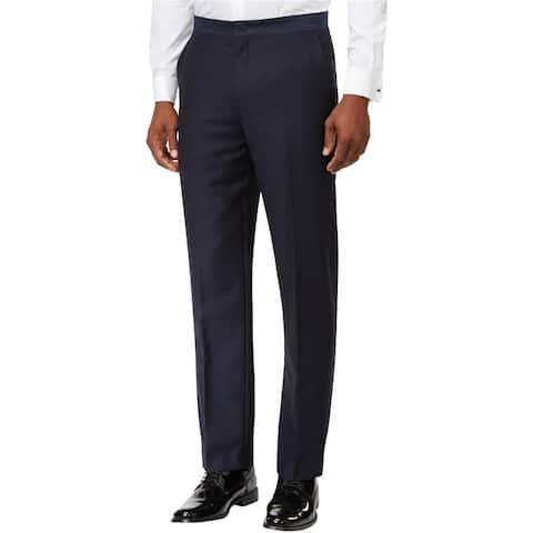 Ryan Seacrest Mens Tuxedo Dress Pants Slacks, Blue, 34W x 30L