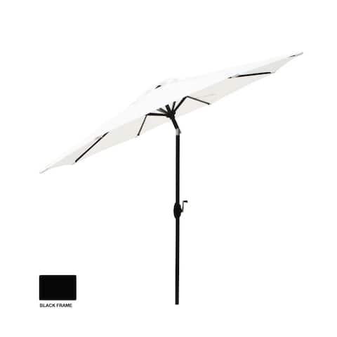 """106.25"""" White Aluminum Market Patio Umbrella"""