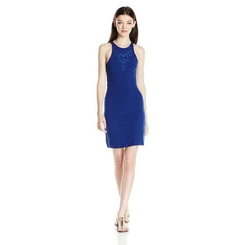 Roxy Junior's Ano Nuevo 2 Dress, Blue Depths, L