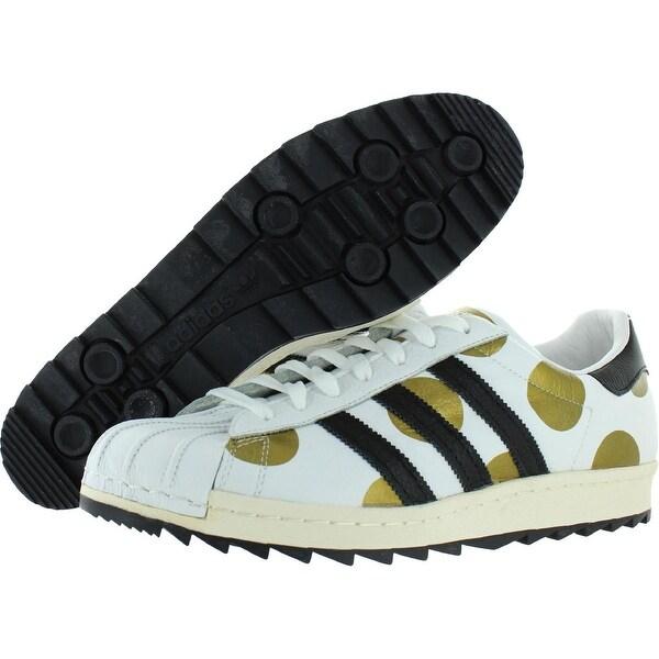 Shop Adidas Mens JS Superstar 80s Ripple Sneakers Polka Dot