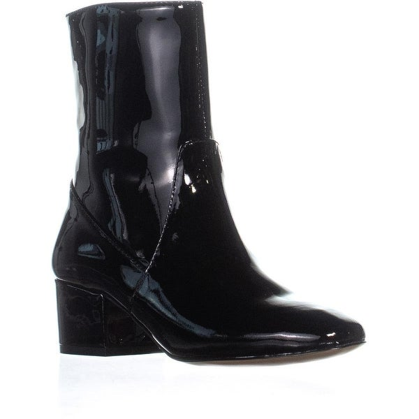ac5209ef6f7 Shop Botkier Gable Block Heel Ankle Boots, Black Patent - Free ...
