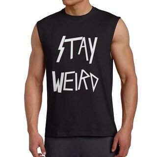 Stay Weird Metal Style Men's Black Sleeveless