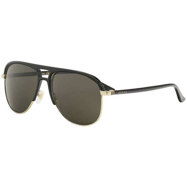 55747bb7e9d Gucci Grey Aviator Sunglasses Gg0292S 001 60 - BLACK-BLACK-GREY - One Size