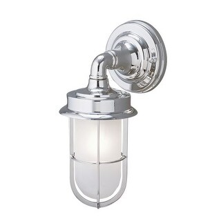"Norwell Lighting 1425 Compton Single Light 12"" Tall Outdoor Wall Sconce with White Glass Shade"