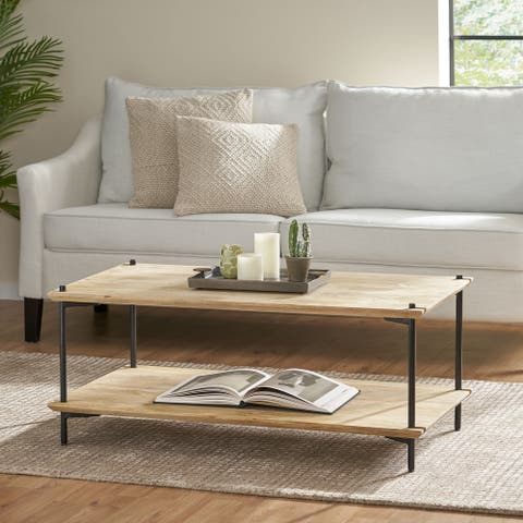 Cano Mango Wood Coffee Table by Christopher Knight Home