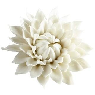 "Cyan Design 09114  Wall Flowers 1-1/2"" x 5-1/2"" Botanical Ceramic Wall Decor - Off White Glaze"
