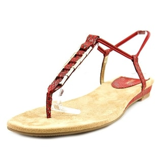 Style & Co Edithe Women Open Toe Synthetic Red Thong Sandal