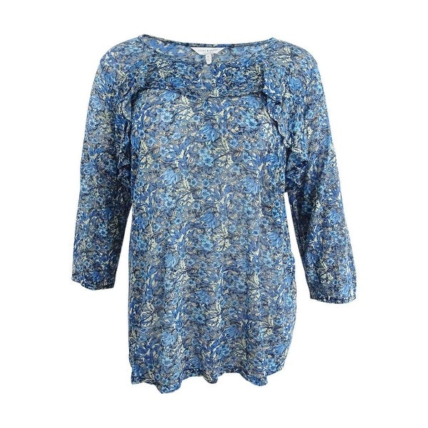 f61a55b3576 Shop Lucky Brand Women s Plus Size Floral Peasant Top (3X