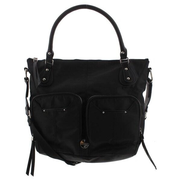 40cf9578fd60 Franco Sarto Womens Natalia Crossbody Handbag Faux Leather Satchel - LARGE