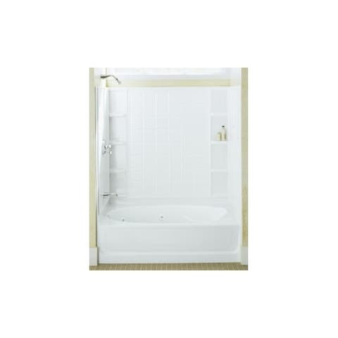 """Sterling 71100118 Ensemble AFD, 60"""" x 36"""" x 74-1/4"""" Tile Bath/Shower with Age in Place Backers - Left-hand Drain"""