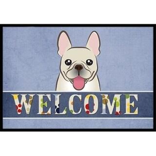 Carolines Treasures BB1424JMAT French Bulldog Welcome Indoor & Outdoor Mat 24 x 36 in.