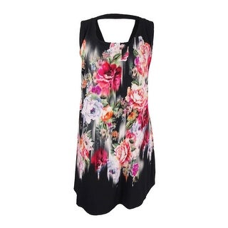 City Chic Women's Plus Size Sleeveless Floral-Print Sheath Dress