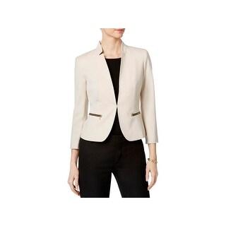 Nine West Womens Open-Front Blazer Stretch Stand-Collar