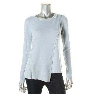 Elie Tahari Womens Anisa Merino Wool Crossover Pullover Sweater