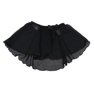 Danshuz Toddler Little Girls Black Mock Wrap Skirt Dancewear 2T-14
