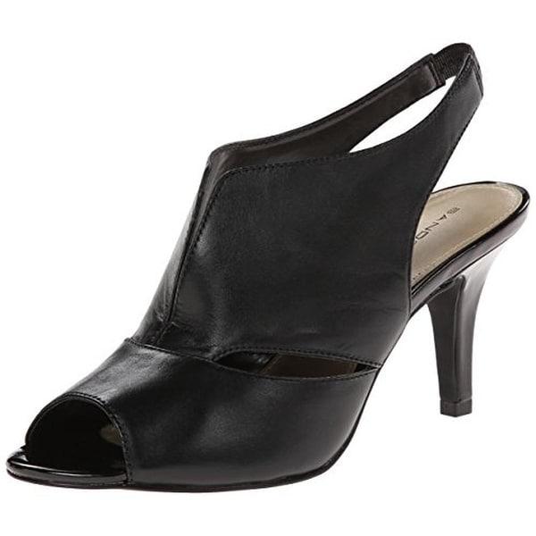Bandolino Womens Mirabella Peep-Toe Heels Leather Slingback - 6 medium (b,m)