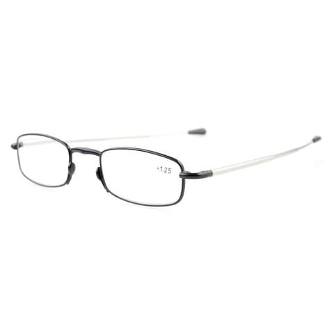 Eyekepper Telescopic Arms Folding Reading Glasses With Flip-Top Case Black +3.0