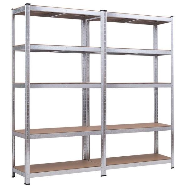 Costway 71'' Heavy Duty Storage Shelf Steel Metal Garage Rack 5 Level Adjustable Shelves - 149.99