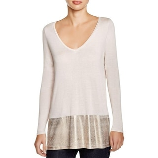 Three Dots Womens Pullover Top MicroModal Long Sleeves