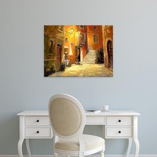 Easy Art Prints Haixia Liu's 'Lighted Alley' Premium Canvas Art
