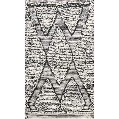 """Tribal Moroccan Oriental Home Decor Area Rug Hand-knotted Wool Carpet - 1'11"""" x 3'3"""""""