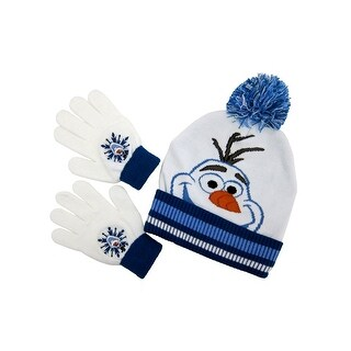 Forzen's Olaf Beanie and Glove Set for kids