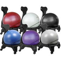 "Isokinetics Inc. Balance Exercise Ball Chair - Standard or ""Tall Boy"" (Exclusive) Frame Height - Choice of Ball Color -"