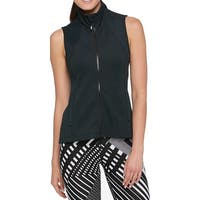 Tommy Hilfiger Womens Full Zipper Perforated Vest